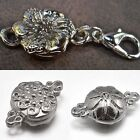Внешний вид - Very Strong Magnetic Jewelry Clasps Converter Flower Silver Plated Fast US Ship