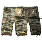 2017 Casual Mens Cotton Summer Army Combat Camo Work Cargo Shorts Pants Trousers