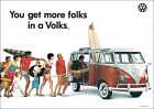 VW Camper Van Type II Classic Showroom Advertising Picture Poster Print A1