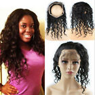 360 Lace Frontal Closure 100% Brazilian Remy Human Hair Natural Wave Pre Plucked
