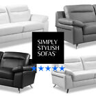 NUVOLA Modern Italian Inspired Leather Sofas 3 + 2 Seaters + Armchairs