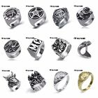 New Elfasio Men's Woman's Stainless Steel Ring Band Fashion Jewelry Size 8 - 13