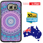 Galaxy Note 8 S8 S7 S6 S5 Edge Plus Rubber Case Purple Mandala For Girls Samsung
