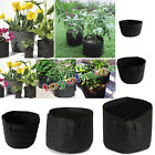 Fabric Grow Bags 1, 2, 3, 5 ,7 ,11 gallon multi packs Fabric Pots Pouch Black FC