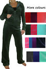 NEW Womens Hooded Velour Luxury Lounge Suit 6-20