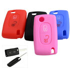 Silicone Key Cover Fob Case Shell For Peugeot 307 308 407 Citrone C3 C4 C5 C6 C8