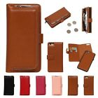 Luxury Leather Removable Wallet Magnetic Flip Card Case For Iphone 6 6s 7 Plus