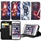 Star Wars Pattern Wallet Flip Leather Cell Phone Case Cover For iPhone 6 6s Plus