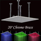 20''Large Shower Head Rainfall Square  Ceiling Mounted Chrome Brush Nickel ORB