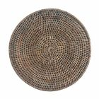 Set of 4 or 6 Round Grey Wicker Rattan Placemats