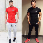 Men's Gym Sport Running T Shirt Fitness Muscle Quick Dry Stretch Top Tee Shirt