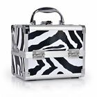 Large Aluminium Vanity Case Cosmetic Make Up Nail Tech Jewellery Storage Box New