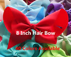 baby headband 8 inch large grossgrain bow shimmer head band romany gift photo