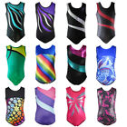 Внешний вид - Little Girl Gymnastics Ballet Leotard Rainbow Rinestone Athletic Dancewear 4-10Y