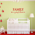 Family A Journey To Forever with Arrow Vinyl Wall Decal - fits nursery room L225