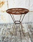 Wrought Iron Child's Table Metal Seating Furniture