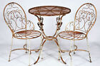 2 Wrought Iron Chairs And Table Patio Set Lawn And Garden Furniture