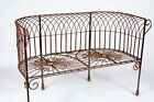 granite garden benches - Wrought Iron Garden Cathedral Bench, Solid Metal Seating