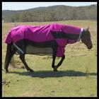 LOVE MY HORSE 600D 5'6 - 6'6 Rainsheet Mesh Hybrid Detachable Neck Rug Rasberry