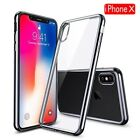 For iPhone  (X) 10 7/8/8+ Ultra Slim Soft TPU Protective Skin Cover Clear Case