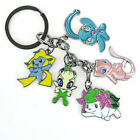 Anime Cartoon Character Keychain Pendant Silver Metal Key Holder Lovely Charms