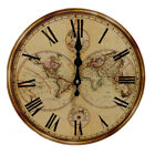 Rustic Antique Clock Wall Vintage Style Wooden Round Clocks Large Art Home Decor