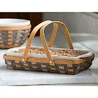 2017 LONGABERGER CARRY & SERVE RECTANGLE BASKET W/OPT TO PUR  PROTECTOR