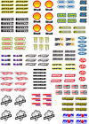 Waterslide Transfers 1:10 1:18 1:32 Scale RC Car Slotcar Scalextric Model Making