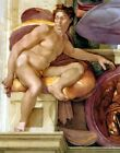 1510 Ignudo No. Three by Michelangelo (classic art print)