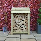 Burley 4ft Outdoor Wooden Log Store - Also Available With Doors - UK Hand Made
