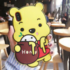 3D Cute Cartoon Winnie the Pooh Soft Shockproof Silicone Rubber Phone Case Cover
