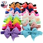 Newborn Infant Baby Girls Boutique Ribbon Bow Headband Baby Bows Toddler Girls