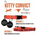 Personalized Kitty Convict Cat ID Collars Completely Adjustable
