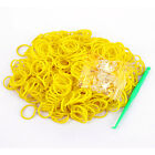 600PCS Rainbow Braided Rubber Bands Loom Refill DIY Bracelet Anklet Clips Kit Y