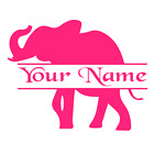 Elephant Split Personalized Name Vinyl Decal Sticker Car Wall Tumbler Cup Choice
