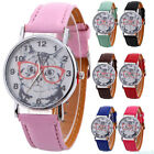 Quartz Glass Dial Leather Band Wrist Watches Hot Lovely Cats Kittens Pattern WA1