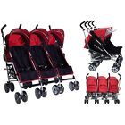 Kids Kargo Triple pushchair triplets stroller birth 0-3 yrs umbrella fold 3 kids <br/> Ideal for nurseries, busy mums! Suitable from birth