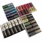 Pack 12 Pcs 402 Polyester Colours Spool Finest Quality Sewing Thread B4Q