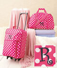 Pink Kids Traveling Luggage Rolling Suitcase Extendable Handle Duffle Bag