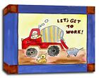 Construction Truck, Prints or Canvas Wall Art Decor, Kids Bedroom Baby Nursery