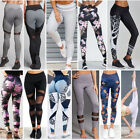 Women High Jogging Yoga Fitness Leggings Gym Sports Pants Stretch Trousers Lot