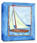 Sailboat Sailing Sea, Prints or Canvas Wall Art Decor, Kids Bedroom Baby Nursery