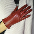 Women's Smart Full Touch Screen Winter Gloves Genuine Sheep Leather 3 Lines B107