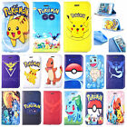 Cute Cartoon Pokemon Go Game Pikachu PU Leather Case Cover For iPhone 4 5 6 7 8