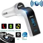 G7 Bluetooth Car Kit Handsfree FM Transmitter Radio MP3 Player USB Charger LE UK