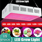1200W 1000W 600W LED Grow Light Full Spectrum Hydroponic Indoor Veg Bloom Plant