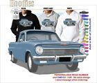 62-63 EJ HOLDEN UTE HOODIE ILLUSTRATED CLASSIC RETRO MUSCLE SPORTS CAR