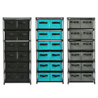 storage and shelving units - Storage Shelf Unit with 6 Shelves and 12 Removable Non-woven Fabric Bins