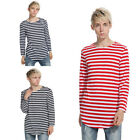 Fashion Men Casual Style Striped Pattern Round Neck Long Sleeve T Shirt
