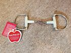 """NEW Happy Mouth Dee Ring Snaffle with Dr. Bristol - 5.5"""""""